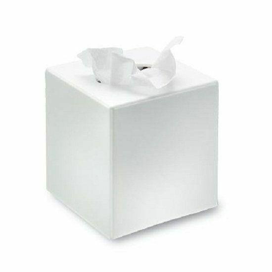 Kozmetikai kendő tartó fehér kocka