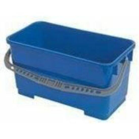 VDM 22 literes műanyag vödör négyszögletes kék