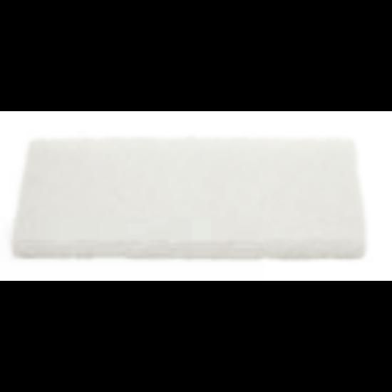 Kézi pad, fehér, 12x25cm
