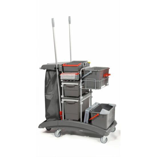 VDM IdeaTop hospital full multifunkciós szerviz kocsi 6l + 2x4l vödörrel