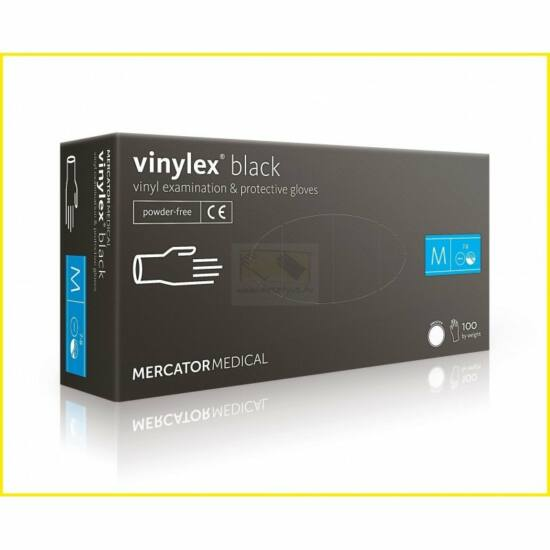 Vinylex púdermentes vinil vizsgálókesztyű fekete L-es 10x100db/gyűjtő