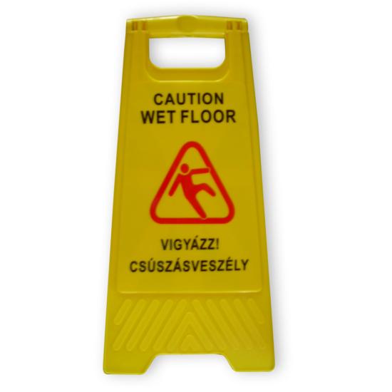 Wet floor- figyelmeztető tábla