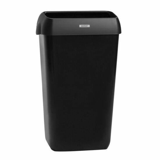 Katrin hulladékgyűjtő fedéllel, 25L, fekete