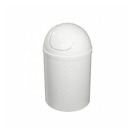 Bisk szemetes tetővel fehér15L