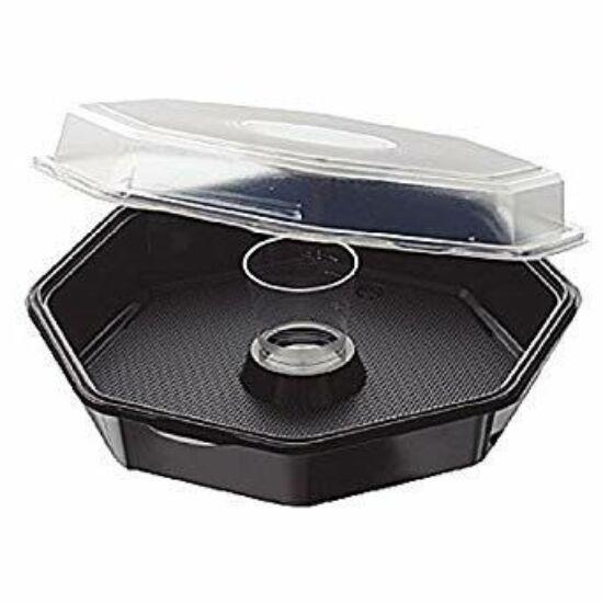 Duni Octaview tál fekete/átlátszó tetővel és dressinges pohárral 950/90ml 240db/gyűjtő