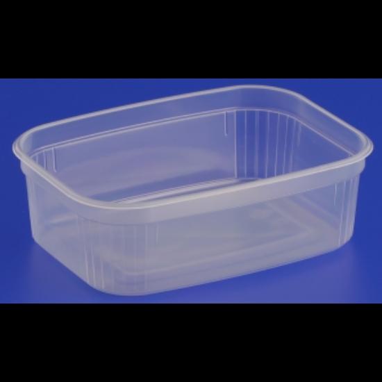 Műanyag svédtál 450 ml, PP mikrózható, 700db/# 10,20 gr/db