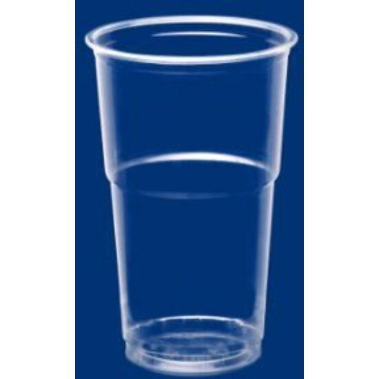 Műanyag pohár, víztiszta, 300 ml, PP, 25x50db