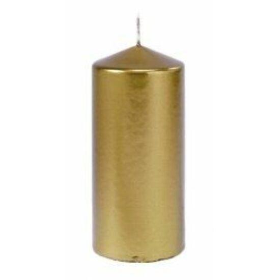 Duni Pillar gyertya matt arany 150x70mm 2x6db/gyűjtő