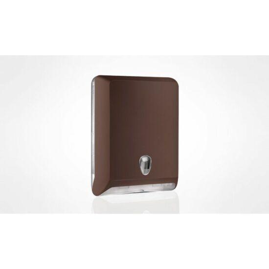 Trend hajtogatott kéztörlő tartó maxi ABS barna soft touch/átlátszó