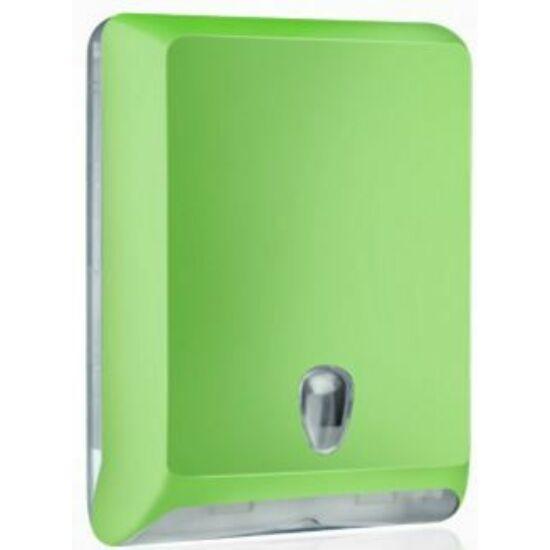 Trend hajtogatott kéztörlő tartó maxi ABS zöld soft touch/átlátszó