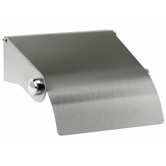 Bisk tekercses toalettpapír tartó tetővel inox ezüst 40db/gyűjtő