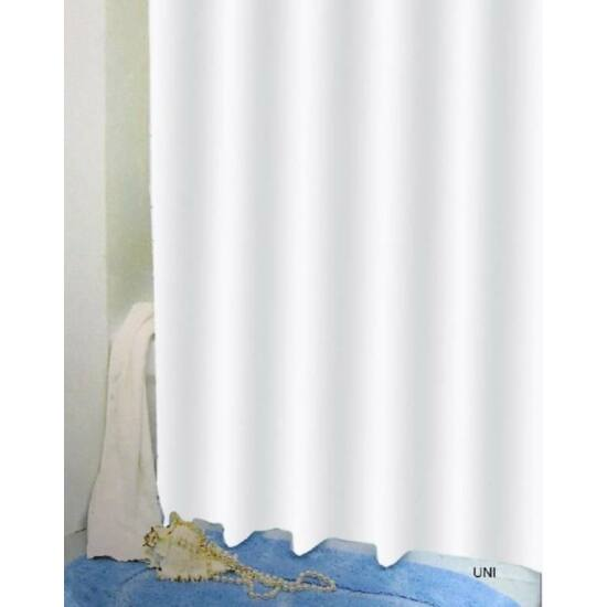 Bisk zuhanyfüggöny, fehér 180x200cm
