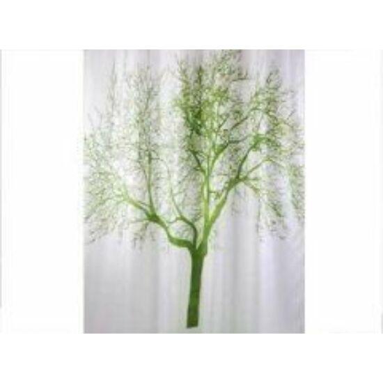 Bisk zuhanyfüggöny, tree green 180x200cm