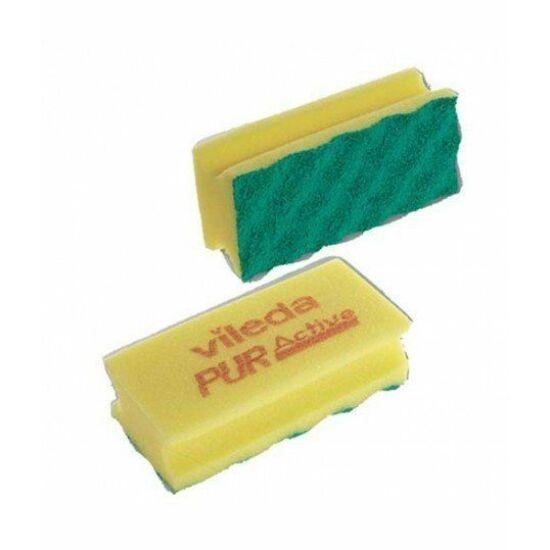 Vileda PUR Active szivacs sárga 7x15x4,5cm 10db/csomag