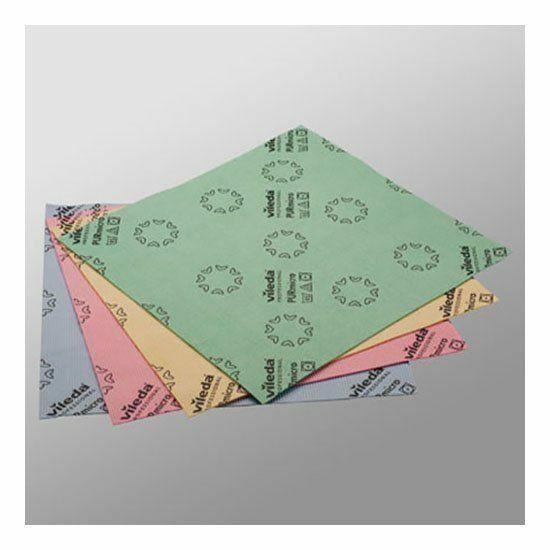 Vileda PURmicro törlőkendő zöld 38x35cm 5db/csomag