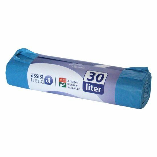 Szemeteszsák 50x60 30l 20db/tekercs kék 15my