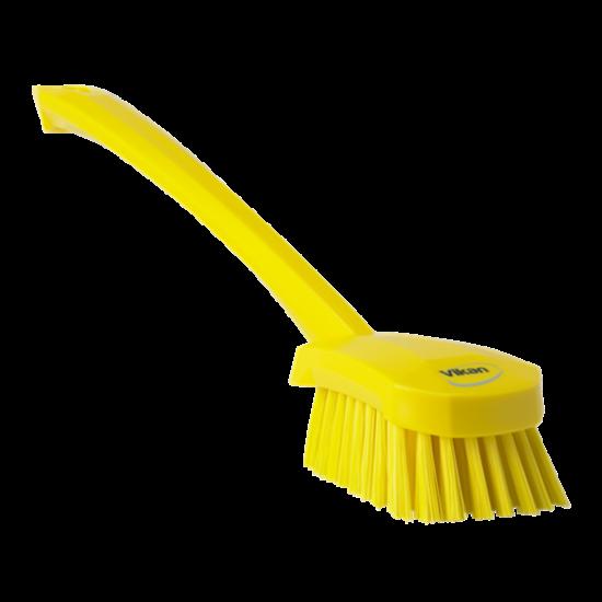 Vikan Nyeles súrolókefe, közepes sárga 415 mm