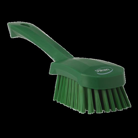 Vikan Mosogatókefe rövid nyéllel, zöld, 270mm