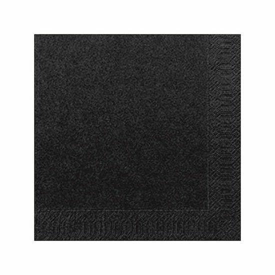 Duni szalvéta fekete 3rtg 33x33cm 8x125db/gyűjtő