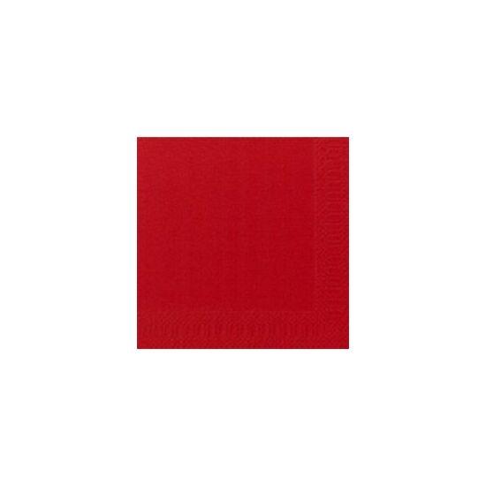 Duni szalvéta piros 3  rétegű 33x33cm 4x250db/gyűjtő