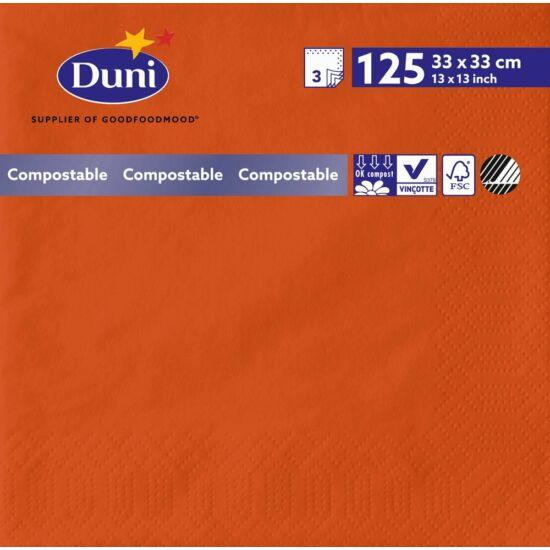 Duni szalvéta Mandarin 3rtg 33x33cm 8x125db/gyűjtő