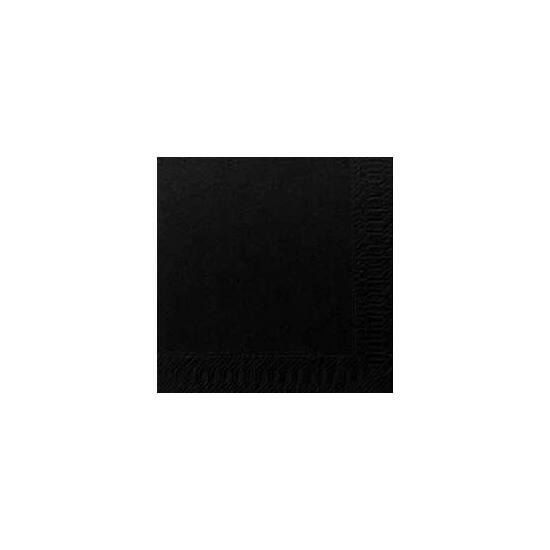 Duni szalvéta fekete 3rtg 24x24cm 8x250db/gyűjtő
