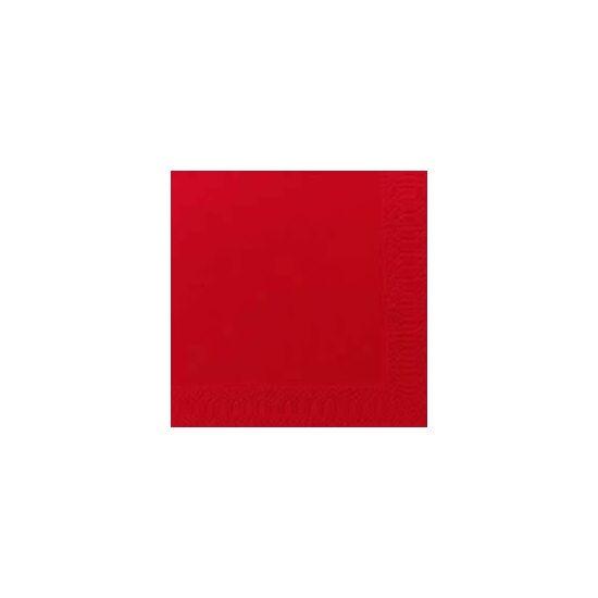 Duni szalvéta piros 3rtg 24x24cm 8x250db/gyűjtő