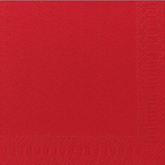Duni szalvéta piros 2 rétegű 33x33cm 16x125db/gyűjtő