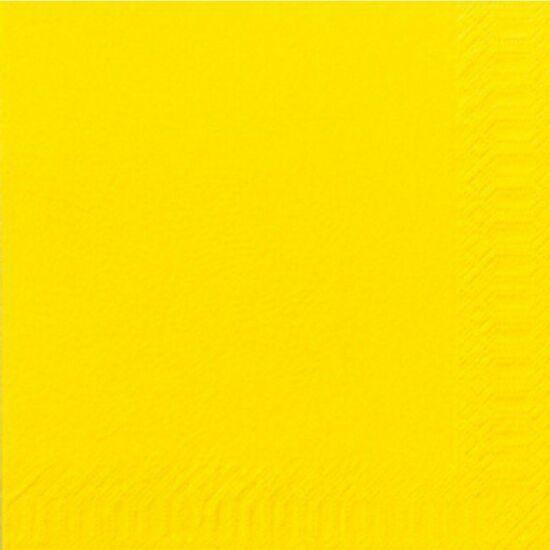 Duni szalvéta sárga 3rtg 33x33cm 8x125db/gyűjtő