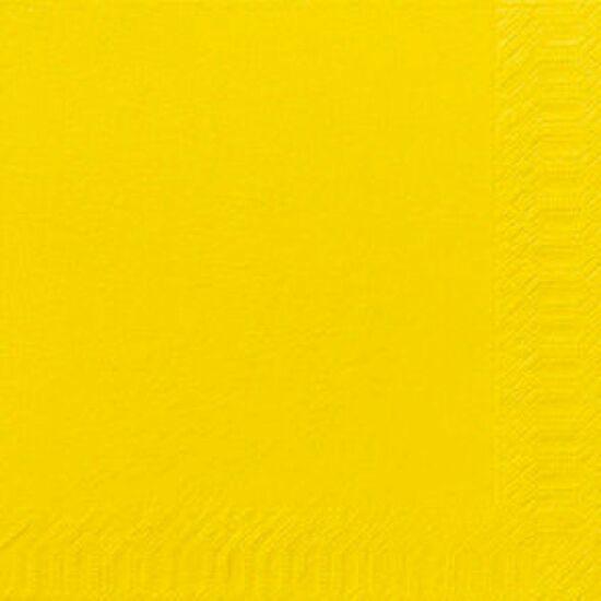 Duni szalvéta sárga 3rtg 40x40 8x125db/gyűjtő