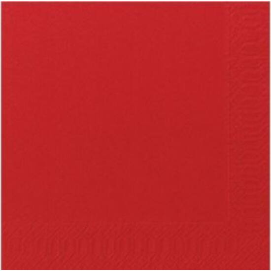 Duni szalvéta piros 3rtg 33x33cm 4x250db/gyűjtő