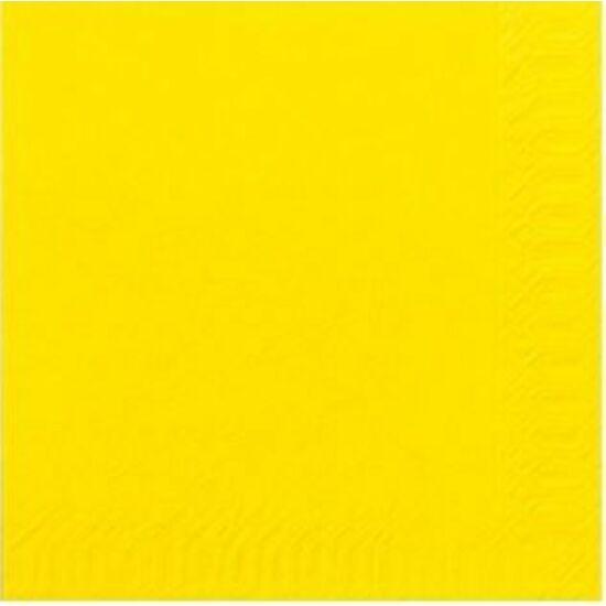Duni szalvéta sárga 3rtg 33x33 4x250db/gyűjtő