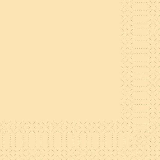 Duni szalvéta krém 3rtg 40x40cm 4x250db/gyűjtő