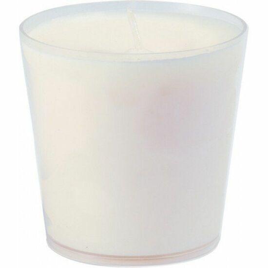 Utántöltő gyertya, üveg gyertyatartóba, fehér