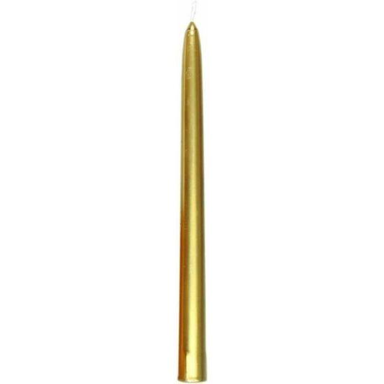 Duni antik gyertya arany 260x22mm 10x10db/gyűjtő