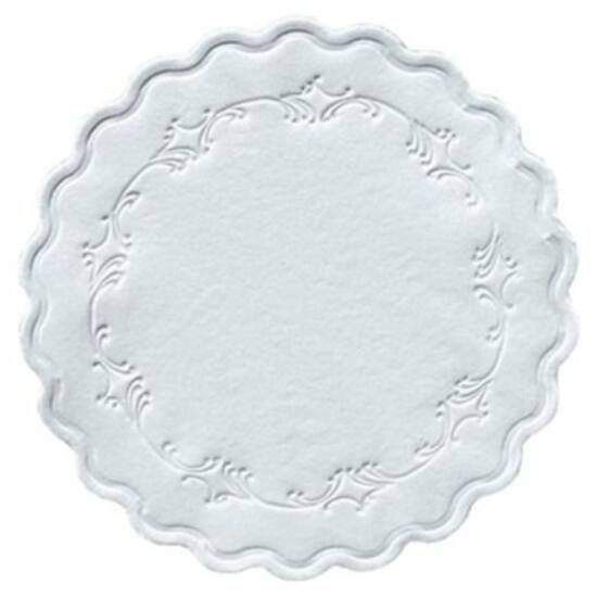 Duni poháralátét Romance fehér 8rtg D9 8x250db/gyűjtő