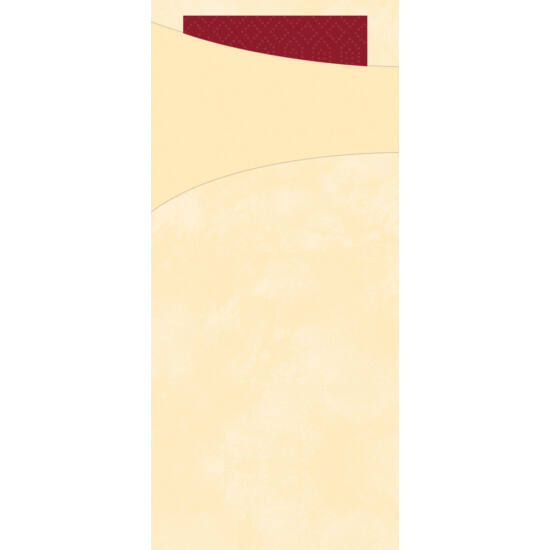 Duni sacchetto krém/bordeaux 8,5x19cm 5x100db/gyűjtő