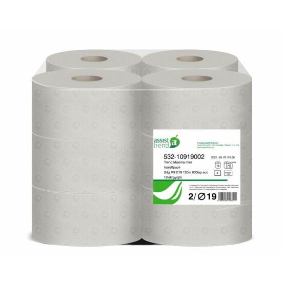 Trend Maxima mini toalettpapír 2rtg M9 D19 120m 600lap eco 12tek/gyűjtő