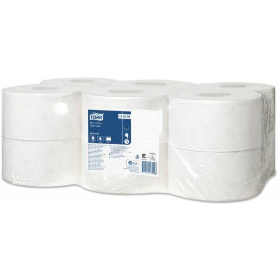Tork Mini Jumbo toalettpapír, 2 rétegű, fehér, 850lap