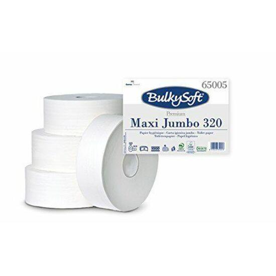 BulkySoft prémium maxi jumbo toalettpapír 2 rtg M9 D25,5 320m cell 6tek/gyűjtő
