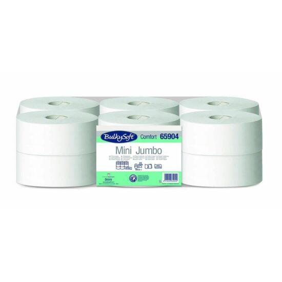 BulkySoft comfort mini jumbo toalettpapír 2 rétegű M9 D19 120m cell 12tek/gyűjtő