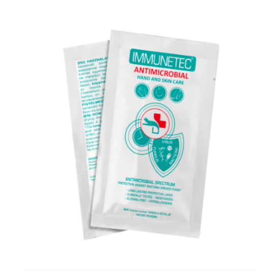 Immunetec kéz- és bőrvédő testkrém 2ml