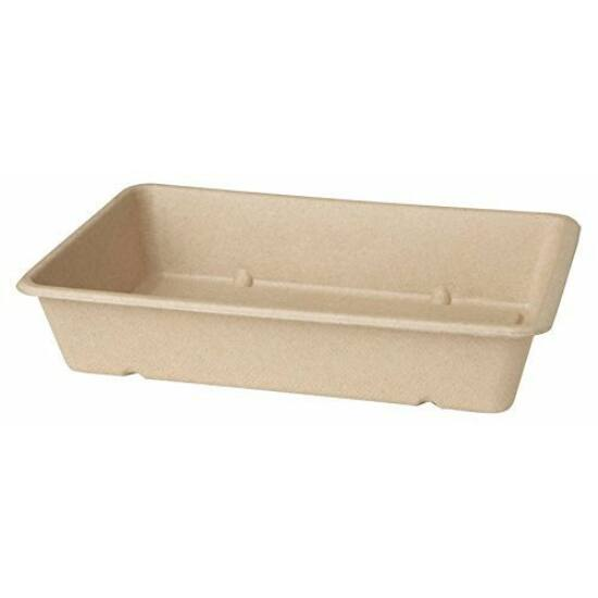 Duni Ecoecho Bagasse box barna 23x15,5x4,6cm 12x40db/gyűjtő