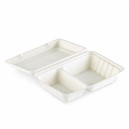 Duni Ecoecho Bagasse menübox fehér 2 részes 470/300ml 5x50db/gyűjtő