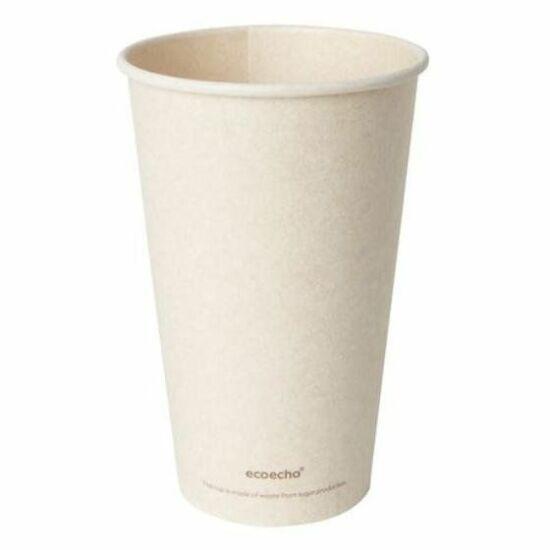 Duni Bagasse kávéspohár Sweet barna 470ml 25x36db/gyűjtő